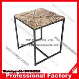 Crystal redondo ou quadrado superior em mármore mesa lateral para a sala de estar
