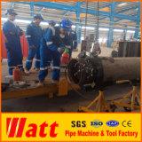 Découpage fendu de pipe de bâti d'utilisation de compagnie de Dubaï et machine taillante pour la préfabrication de pipe