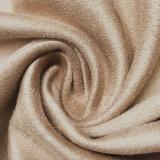 의복 단화 복장 가구 Uphostery 소파를 위한 씨실 뜨개질을 하는 스웨드 직물을 청동색으로 만들기