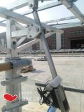 Atuador linear elétrico, carga grande, curso longo, customizável
