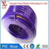 최신 판매 다채로운 최고 질 PVC 섬유 땋는 호스 관