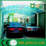 Стандартный размер для поликарбоната Carports Aluminuim рамы складной крыши на заводе быстрого питания (138 КПП)