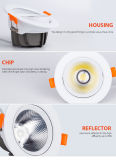 MAZORCA caliente Downlight del proyector de la venta 5With7With10With15W LED de China