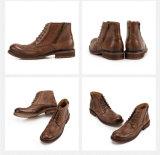 Neue Mann-Leder-beiläufige Schuh-hohe Spitzenmartin-Aufladungen