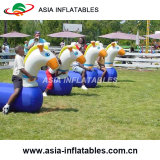 Aufblasbares laufendes Pony-Hopfen, aufblasbares springendes Pferderennen