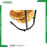 Metallsupermarkt-Ausstellungsstand-Brot-runde Korb-Bildschirmanzeige-Zahnstange