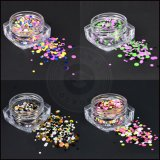 Gold/silberne Nagel-Kunst-Dekorationen des Nagelsequin-Blendung-Staub-Funkeln-3D