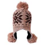 帽子のEarflapの帽子の羊毛によって並べられるニットの冬の暖かい耳の折り返しの帽子についてへまをしなさい