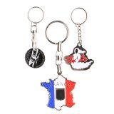 Die meisten begrüßten hochwertiges Firmenzeichen gedruckten Metallmünzen-Halter Keychain, kundenspezifisches Form-Metall Keychain, Andenken-Metall Keychain