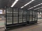 Охладитель индикации двери супермаркета стеклянный для напитков и индикации пить