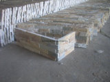 Желтый культуры Quartzite стены оболочка в углу