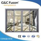 Insonorisées & rupture thermique double vitrage des portes coulissantes en aluminium