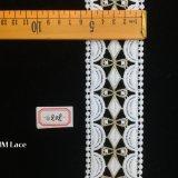 garniture à deux lignes symétrique de lacet de 5.5cm avec le dôme et points pour la frange Hme808 de talons