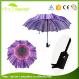 Оптовый более дешевый 3 зонтик створки напечатанный 21inch