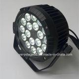 옥외 LED 동위는 18X10W RGBW 단계 빛 할 수 있다