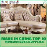 Luxury European Classical Italian Leather Sectional Living room Room Sofa
