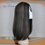 Peluca humana del pelo de la Virgen del cordón lleno (PPG-l-01317)