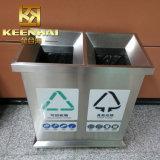 De openlucht Bak van het Afval van het Roestvrij staal, de Vuilnisbak van het Metaal