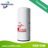 Fabricación del filtro de petróleo del carro en China produciendo la calidad Lf3000 del OEM