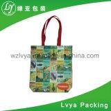 Мешок пляжа плеча веревочки хлопка сумок способа новый портативный