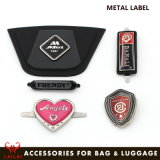 Acessórios de metal de moda Saco Personalizado Etiqueta etiqueta metálica do logotipo da Marca para as bolsas