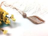De vierkante Gouden Halsband van de Diamant van de Verklaring Zircon van de Juwelen van Vrouwen Kubieke voor Manier