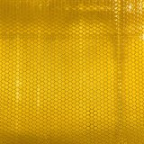 La coutume estampe le jaune r3fléchissant de matériau de collant de nid d'abeilles de la publicité extérieure