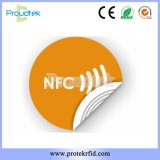 Ntag215 Etiqueta NFC Etiquetas con capa autoadhesiva para teléfono móvil