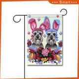 安く熱い販売は屋外の装飾犬デザインブランクの庭のフラグを個人化した