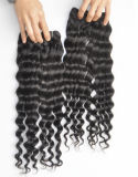 Extensões profundas do cabelo da onda do Virgin malaio do ser humano de 100%