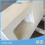 Сверкание белый / чистый белый искусственного кварца камень для столешницами Benchtop