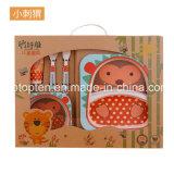 Fibra de bambú sólido de los niños la alimentación de las placas de platos de cuchara taza tazón vajilla