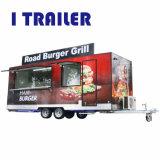 호주 판매를 위한 표준 이동할 수 있는 섬유유리 음식 트럭