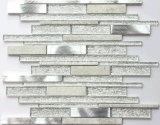 Nova Textura Efeito Shinning Prata Decoração de parede de azulejos com mosaicos de vidro