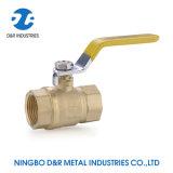Mango Amarillo de aceite de TNP puerto lleno de agua y gas de la válvula de bola de latón