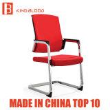 Vermelho e Preto Giratório confortável cadeira de escritório sem as rodas dianteiras