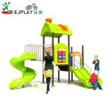 Ejplayの高品質のプラスチックスライドの屋外の就学前の運動場装置のおもちゃの子供の遊園地のスライドの運動場