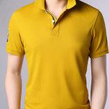 刺繍される新しい標準綿のポロのTシャツの100%年の綿の悪感情180g