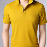 Nuevo estándar Camiseta de Polo de algodón 100% Algodón Pique 180g bordado