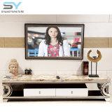 Hohe Glanz-Wohnzimmer-Möbel moderner Fernsehapparat-Standplatz Fernsehapparat-Tisch