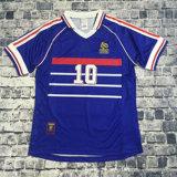 Overhemd van de Voetbal van de Uniformen van de Kwaliteit van Jerseys Zidane Henry Maillot De Foot Thailand van het Voetbal van Frankrijk van Jersey 1998 van de hoogste Kwaliteit Retro Uitstekende