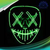 Halloween LED illumina in su la mascherina d'ardore del collegare di EL del costume di Cosplay delle mascherine del partito