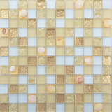 300X300 el pastoralismo Mezcla de colores estilo Shell artesanía mosaico de vidrio