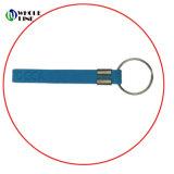 Porta-chaves curto de silicone de impressão personalizado para Wristlet passadeira de Borracha