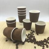 Kop van het Document van de Koffie van de Muur van de Rimpeling van Eco 4oz de Beschikbare PLA Afgedrukte