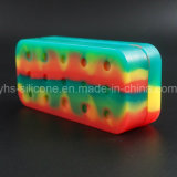 China Wholesale colorido rectángulo de 75ml Contenedor de silicona con 4 separa