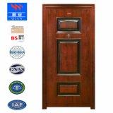 Certificado de BS Heatproof fuego exterior de la puerta de madera puerta de acero