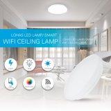 10-дюймовый светодиодный индикатор с регулируемой яркостью для утопленного монтажа белый Круглый потолочный светильник рассеянного света 15Вт (100 Вт) управление WiFi для домашнего освещения
