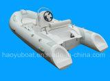 セリウム4.2mのガラス繊維のHul Rigidlの膨脹可能なボートが付いている13.8ft Rib420c Recsueのボート