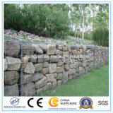 Caja de Gabion Soldada galvanizada, Cesta de alambre para muro de contención de piedra